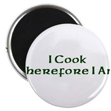 "I Cook Therefore I Am 2.25"" Magnet (100 pack)"