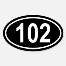 102 Oval Decal
