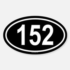 152 Oval Decal
