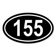 155 Oval Decal