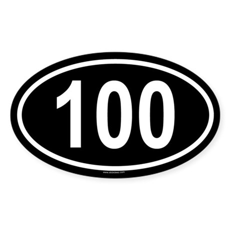 100 Oval Sticker