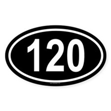 120 Oval Decal