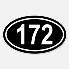 172 Oval Decal