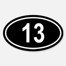 13 Oval Decal