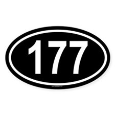 177 Oval Decal
