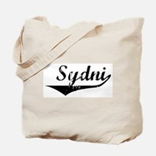 Sydni Vintage (Black) Tote Bag