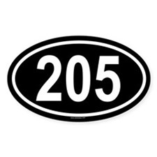 205 Oval Decal