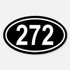 272 Oval Decal