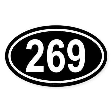269 Oval Sticker