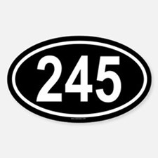 245 Oval Decal