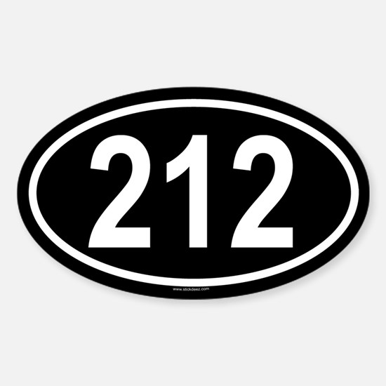 212 Oval Bumper Stickers