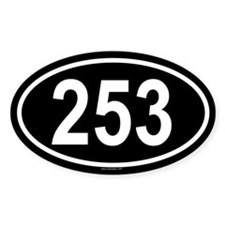 253 Oval Decal