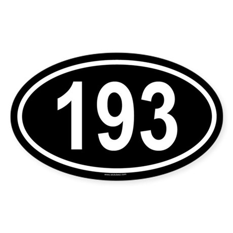 193 Oval Sticker