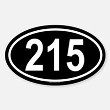 215 Oval Decal