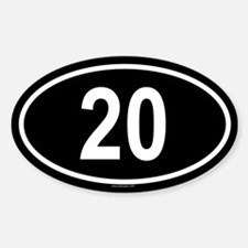 20 Oval Decal