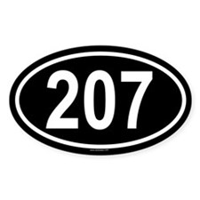 207 Oval Decal