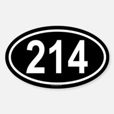 214 Oval Decal
