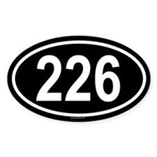 226 Oval Decal