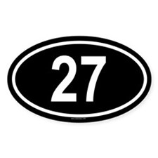 27 Oval Decal