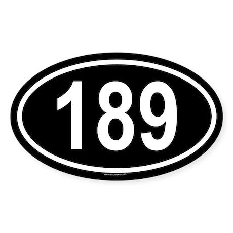 189 Oval Sticker