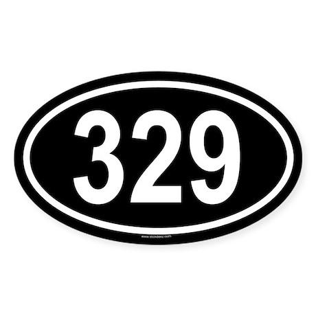 329 Oval Sticker