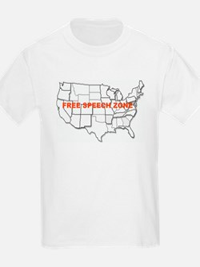 Free Speech Zone Kids T-Shirt