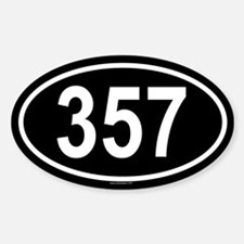 357 Oval Bumper Stickers