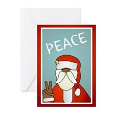Peace Out Santa Greeting Cards (Pk of 20)