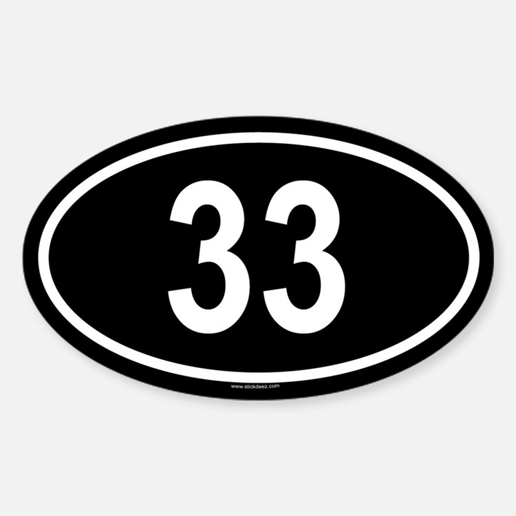 33 Oval Decal
