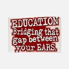 Maroon, Education Bridging The Gap Rectangle Magne