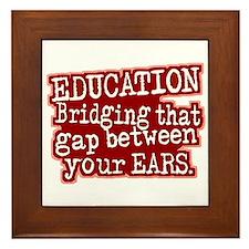 Maroon, Education Bridging The Gap Framed Tile