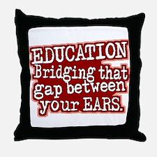 Maroon, Education Bridging The Gap Throw Pillow