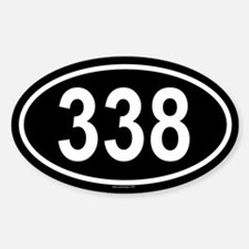 338 Oval Decal