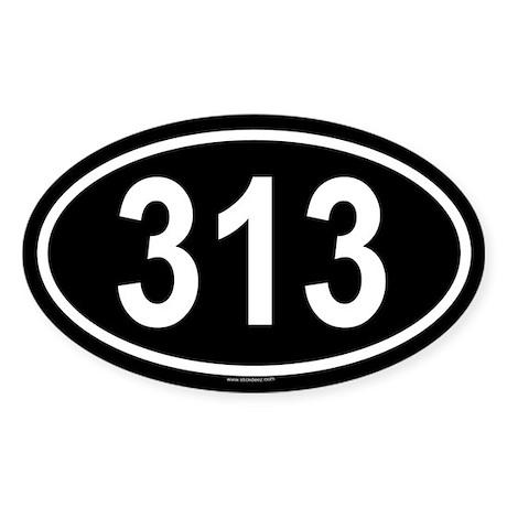 313 Oval Sticker