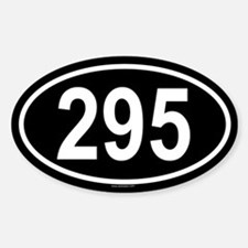 295 Oval Decal
