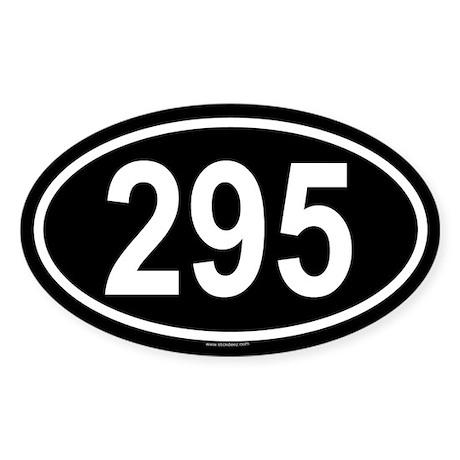 295 Oval Sticker