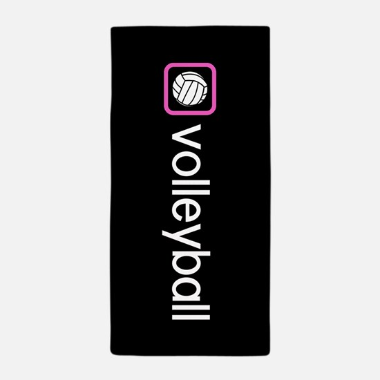 Volleyball (Pink) Beach Towel