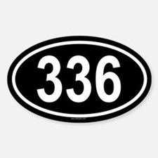 336 Oval Decal