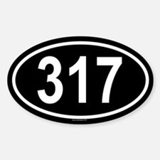 317 Oval Bumper Stickers