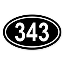 343 Oval Decal