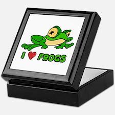 I Love Frogs Keepsake Box