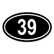 39 Oval Decal