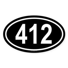 412 Oval Decal