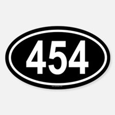 454 Oval Decal