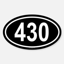 430 Oval Decal