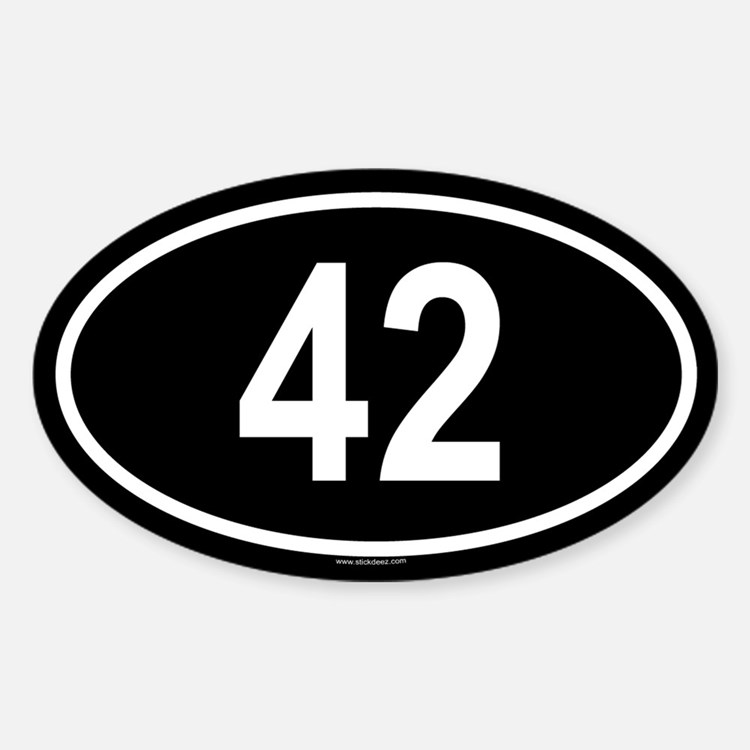 42 Oval Bumper Stickers