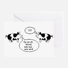 Schweine (black/white) Greeting Card