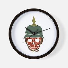 Pickelhaube Helmet Wall Clock