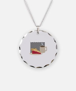 Coffee And Cherry Pie Necklace