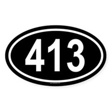 413 Oval Decal